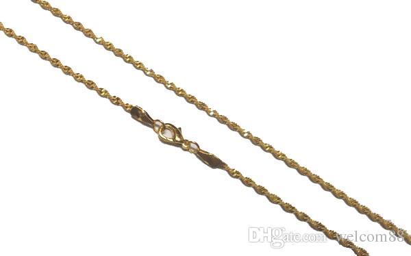 Cadenas de collar de oro de / lote 16 pulgadas para el regalo de joyería de moda de artesanía de bricolaje GO15 GO15 GRATIS ShIPP