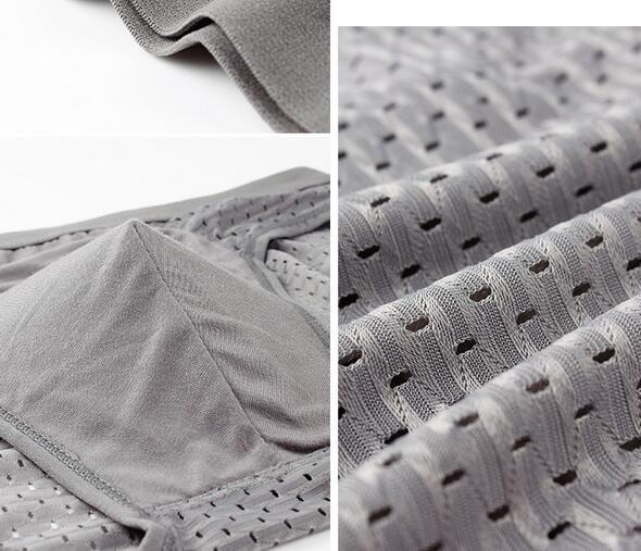 Factory price DHl free Sports Model Breathable mesh men's boxer brifes Big soft U Design bulge Ice silk Bump Men's Underwear