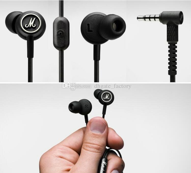 Marshall MODE Headphones In Ear Headset Black Earphones With Mic HiFi Ear Buds Universal For Mobile Phones top selling fast shipping
