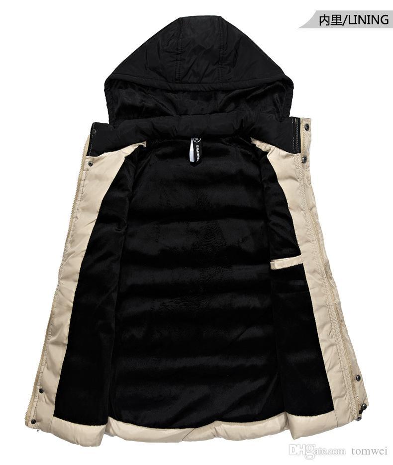 Бренд жилет мужской зимний жилет капот снег куртка без рукавов теплая верхняя одежда пальто топы карманы большой размер L XL XXL XXXL 2017