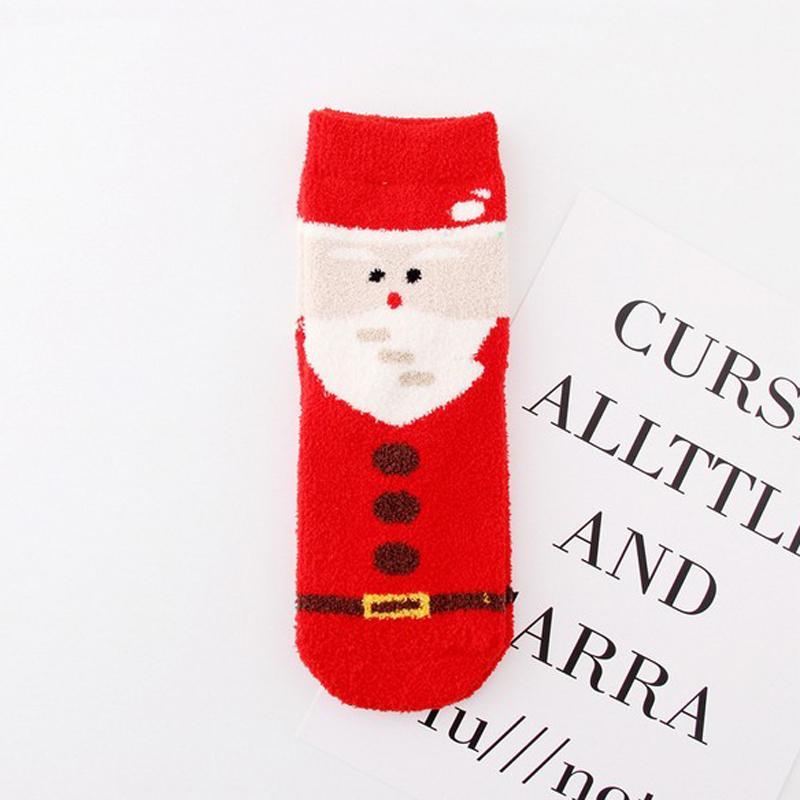 New Women Christmas Socks Nuovo design 3D Cartoon Elk Snowman Santa Socks Donna Autunno Inverno Calze calde di Natale