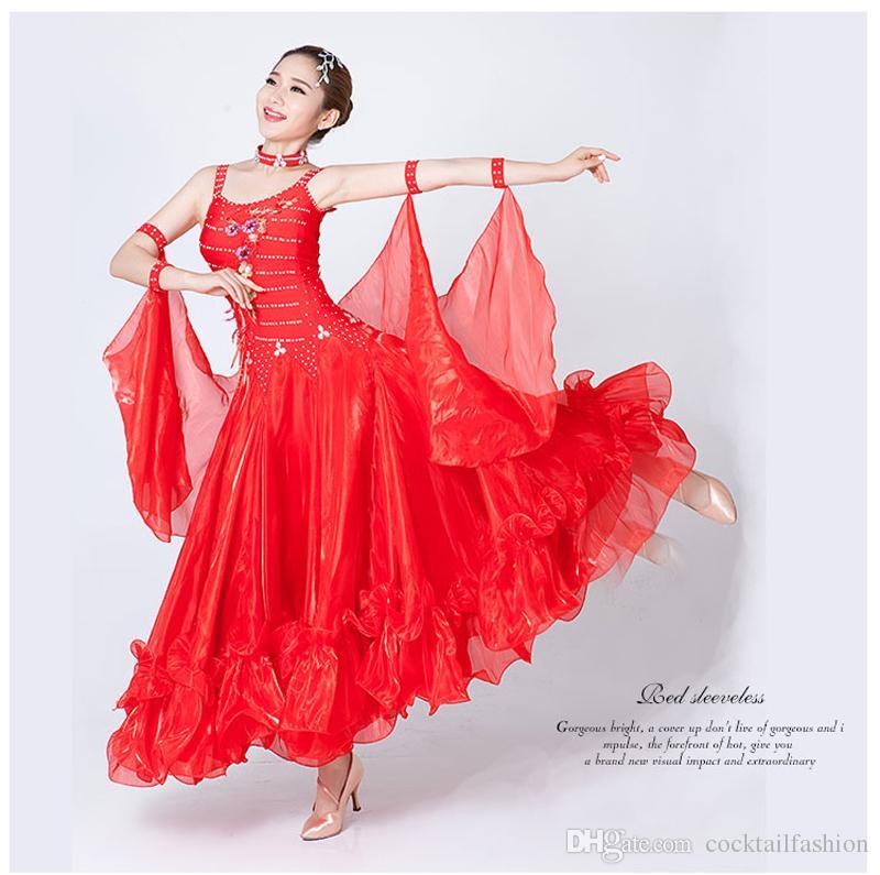 Women S Ballroom Waltz Dance Dress New Arrival Tango Flamenco