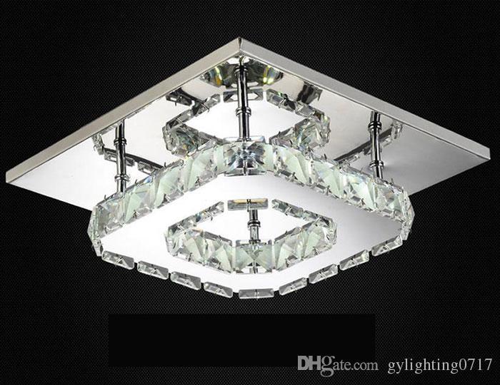 Современные светодиодные Потолочные светильники Square Кристалл Luster Luminarias Para Sala светодиодные лампы для дома придел коридор балконных кухня светильникам