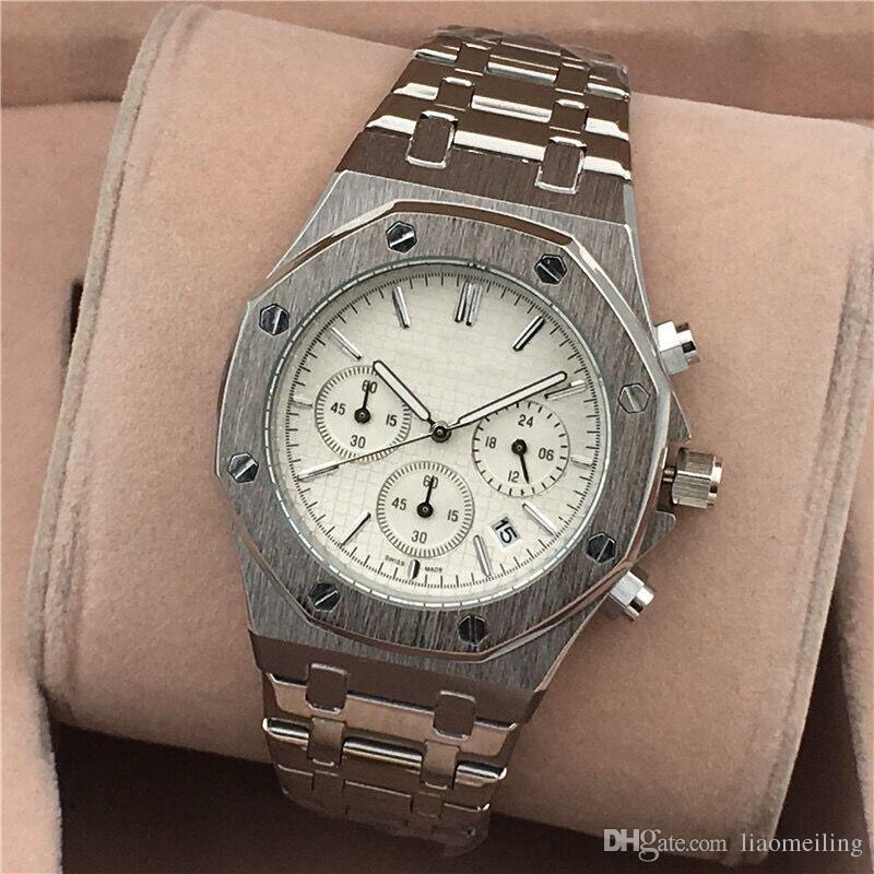 Todos Subdials Work AAA Mens o womenes Relojes Relojes de pulsera de cuarzo de acero Cronómetro Luxury Watch Top Relogies de marca para hombres relojes Mejor regalo