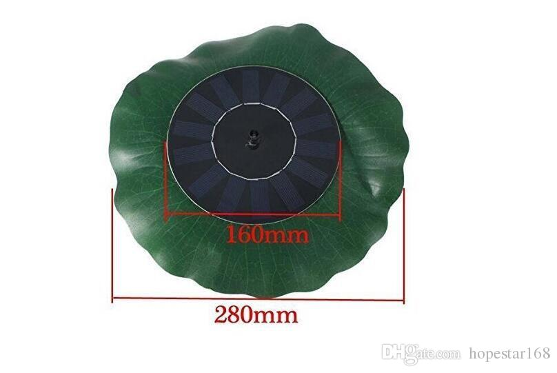 Watering Power Fountains Pool 7V 1.4W Lotus Leaf Floating Water Pump Solar Panel Garden Plants Fish Pond Fountain Decoration