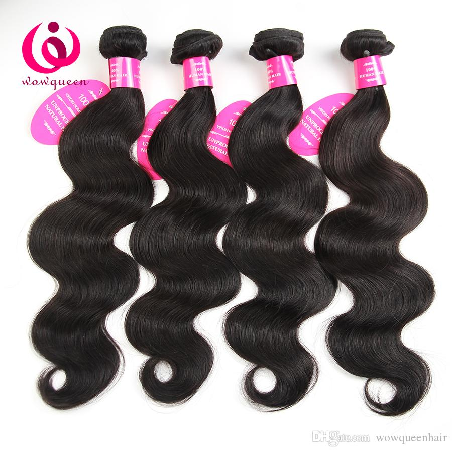 Malaysian Body Wave Hair Weave Bundles Wow Queen Products 8-28inch Soft and Thick Cheap Whoelsal Price Malaysian Virgin Human Hair