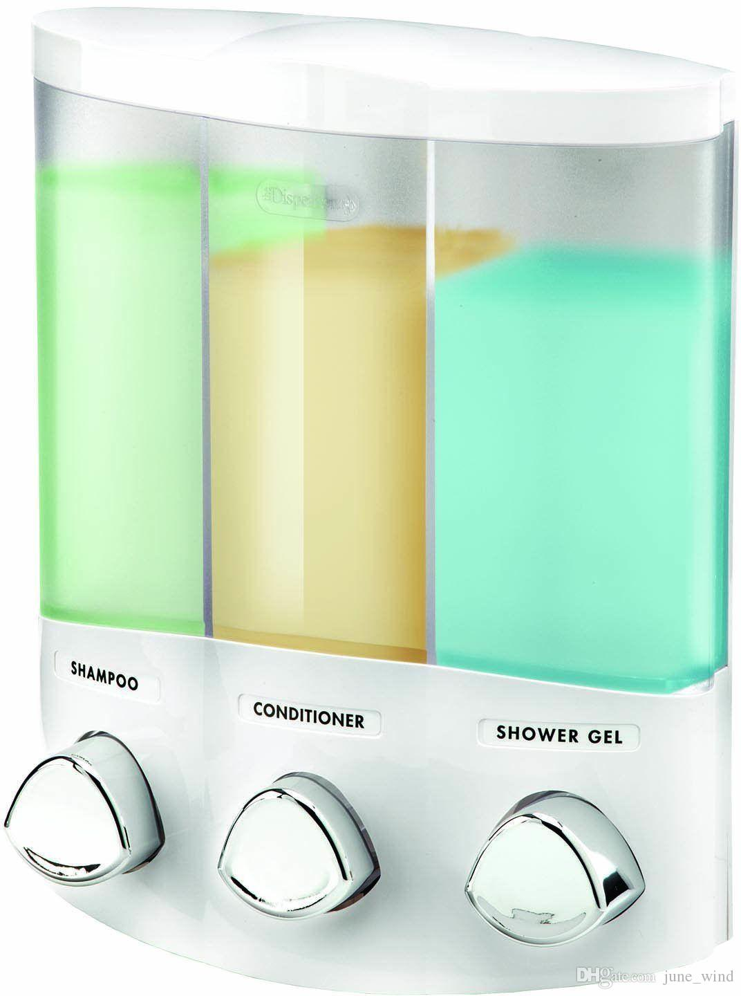 Euro Series AVIVA TRIO Bath Soap Shampoo U0026 Conditioner Shower Bathroom  Dispenser Liquid Soap Dispenser Bathroom Dispenser Online With $29.51/Piece  On ...