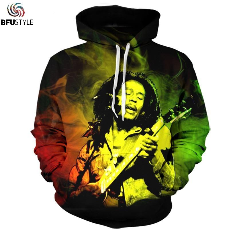 Wholesale Bob Marley Hoodie Sweatshirt Men 2017 New Fashion Autumn Winter Mens Clothing Casual Outwear Tracksuit Brand Hooded Dropship