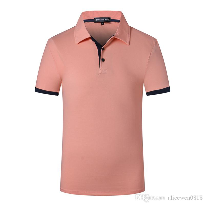 c8d77ffb8 2019 Mens Polo Shirt Brands Slim Fit Casual Solid Polo Shirts Brand Clothing  Short Sleeve Fashion Polo Shirts Short Sleeve Men Summer XXL From  Alicewen0818, ...