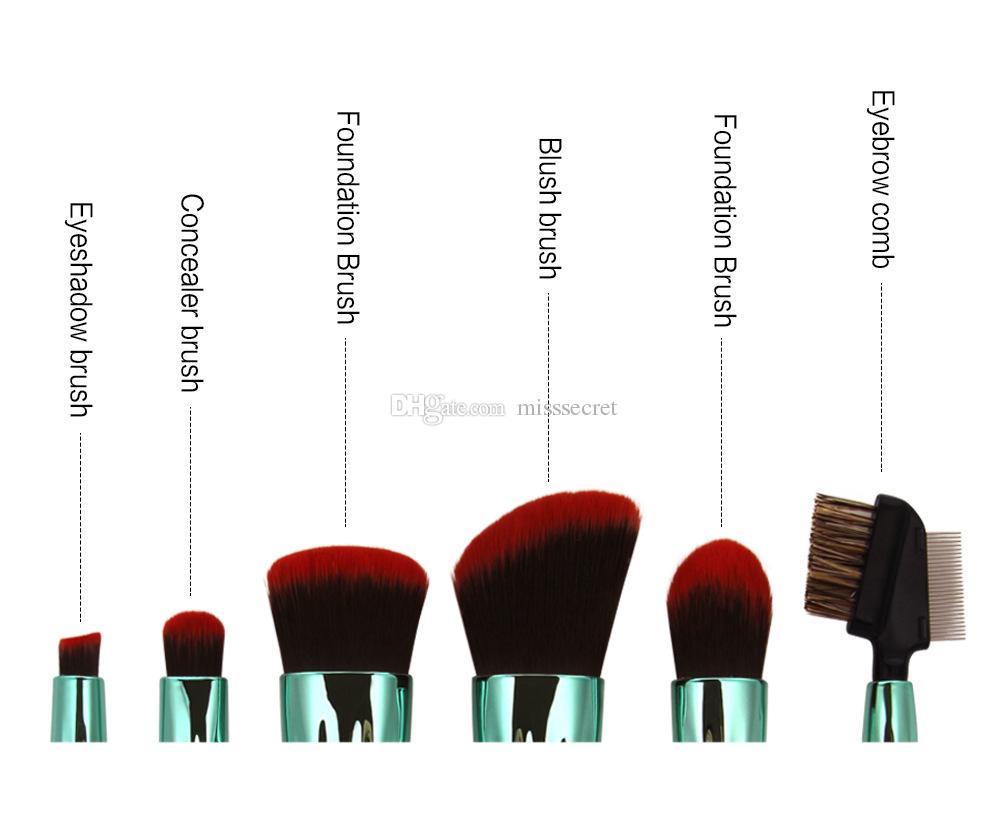 Оболочки кисти для макияжа Набор Фонд кисти наборы инструментов румяна лицо мощность макияжа Кисти набор румяна мощность контур глаз тени подводка для глаз комплект