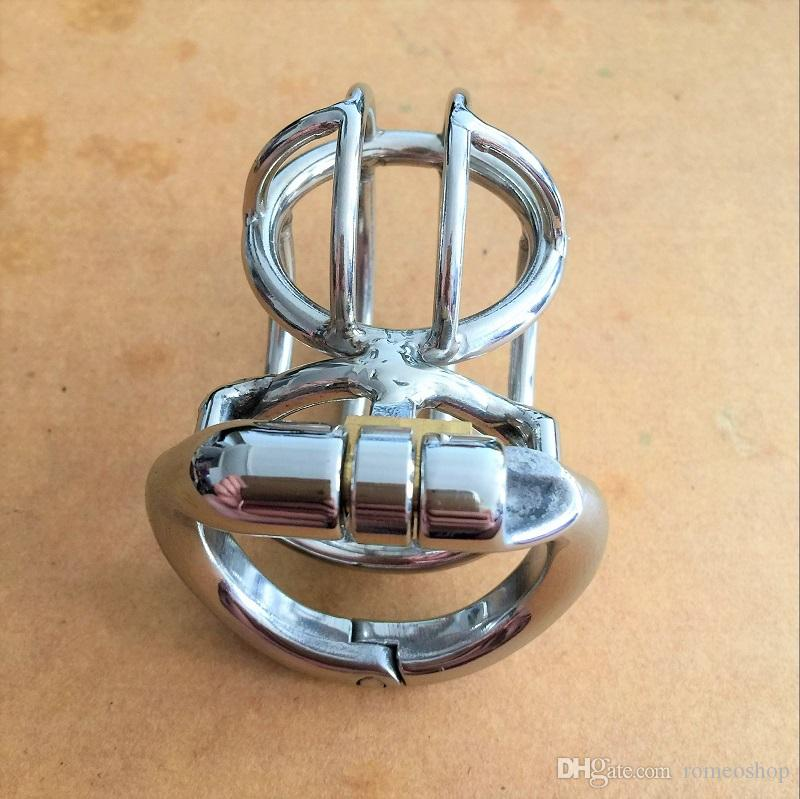 Open mourth snap ring design male 304# stainless steel 62mm chastity cages 4 sizes36mm-50mm penis SM bondage cock cage for men