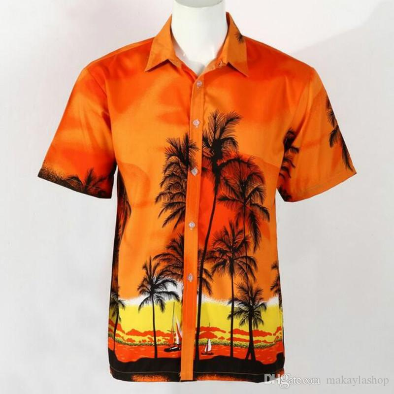 44169a37 2019 Hawaiian Shirt Men Casual Beach Shirts Short Sleeve New Male Board Shirts  Aloha Shirts From Makaylashop, $34.7 | DHgate.Com