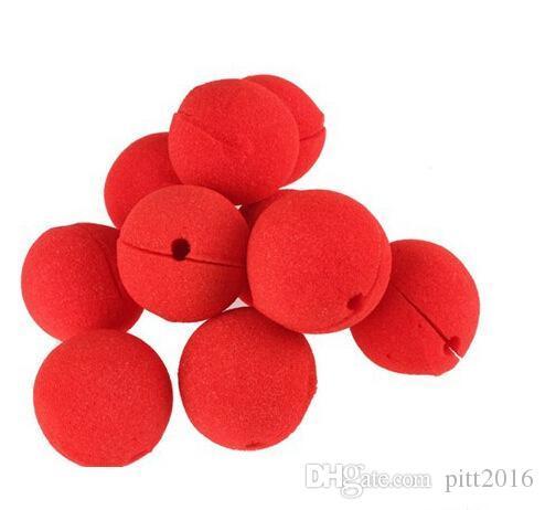 Popular 1000 Unids / lote 5 cm Accesorios Divertidos RED Pelota de Espuma Clip Circus Payaso Nariz Comic Fiesta de Disfraces de Halloween Vestido Mágico