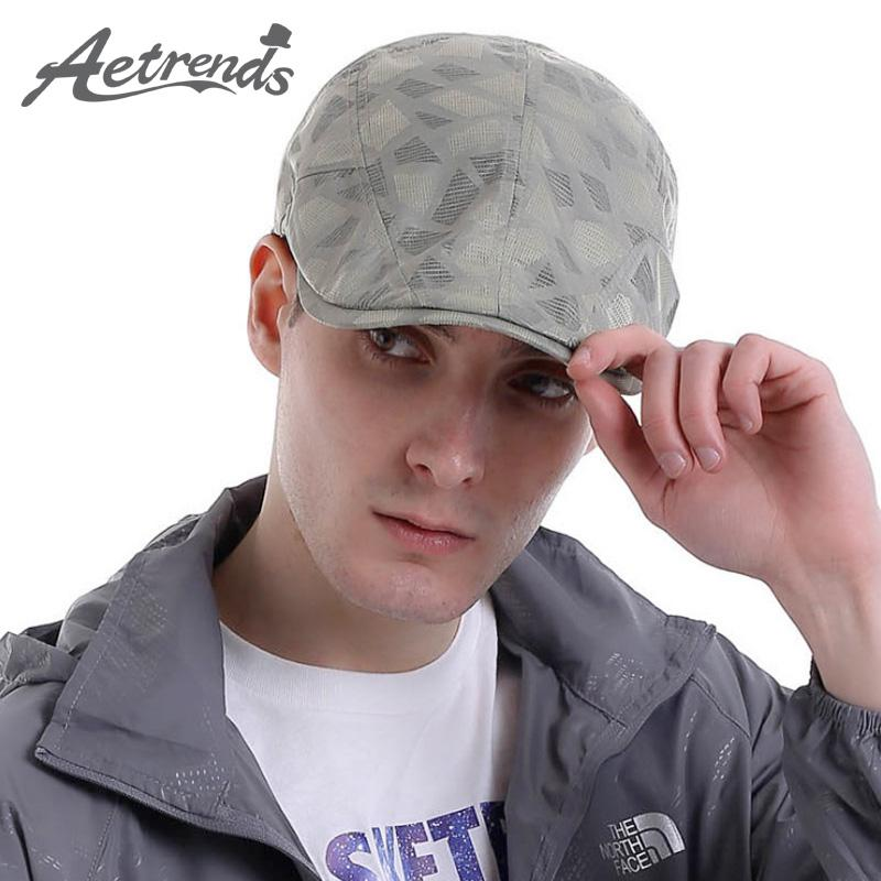 2019 Wholesale AETRENDS 2016 Cap French Beret For Men Hat Quick Drying  Plaid Golf Hats High Quality Z 3027 From Haydena d494e395fe4