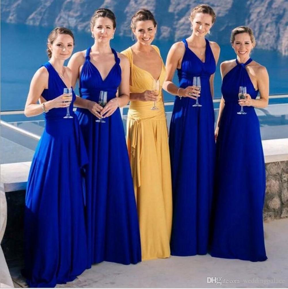 Royal Blue Long Bridesmaid Dress