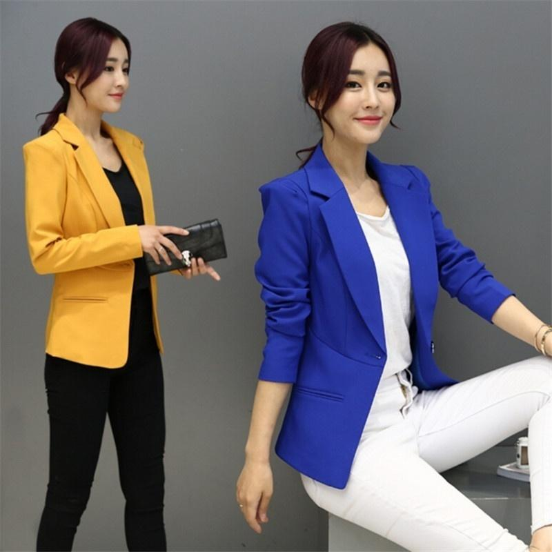 fbb61a5024e Women Blazers And Jackets Suit 2017 Spring Autumn Fashion Single ...