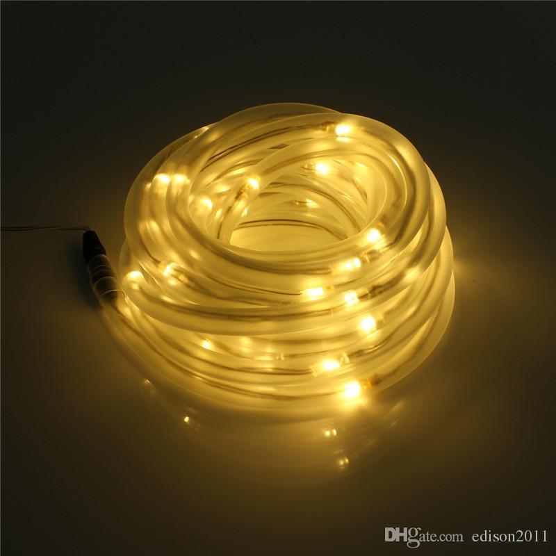 Edison2011 10M 100 Leds Solar LED String Lights Outdoor Rope Tube Led String Solar Powered Fairy Lights for Garden Fence Landscape