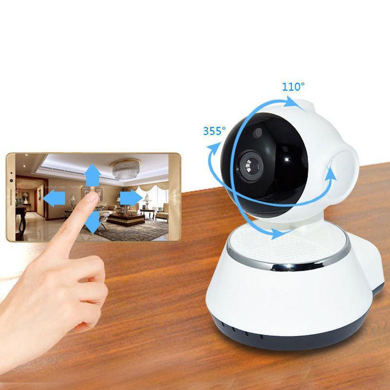 Telecamera Wireless 720P Pan Tilt Network Camera CCTV IP IR Visione  Notturna Webcam WiFi