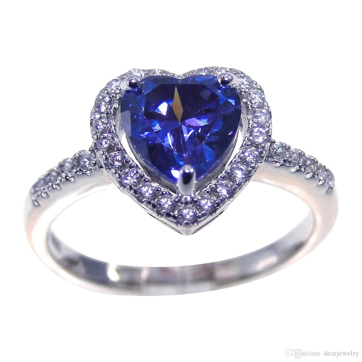 57263850edf29 New Style Fashion jewelry 925 silver tanzanite mystery Zircon Rhodium  Plated Ring Wedding Ring Jeweilry DR0241258R-4.52g size8 Free Shipping