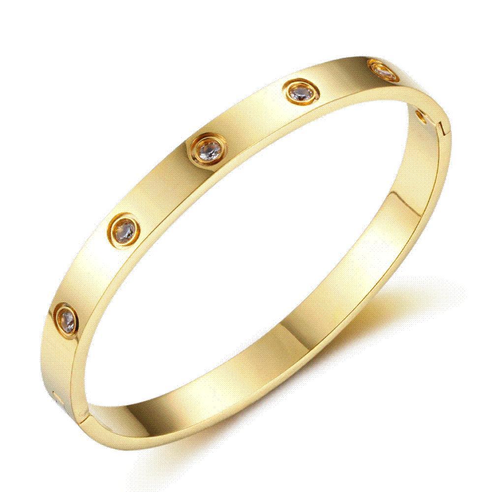 Expensive Gold Bracelet: Love Bracelet Bangles Screw Bracelet Stainless Steel