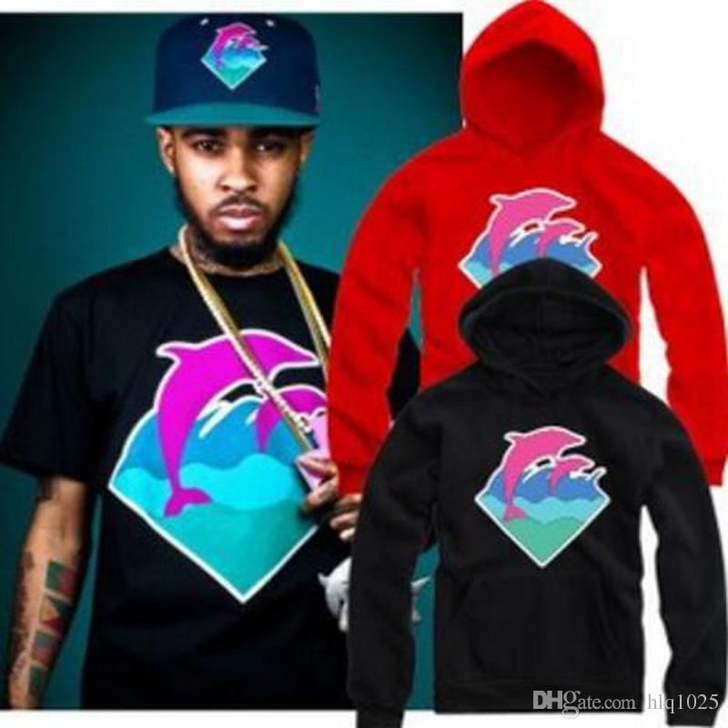 New casual Autumn Winter Men Fashion Clothing Pink Dolphin Hoodies Sweater For Men Hip hop Sportswear Wholesale M-4XL