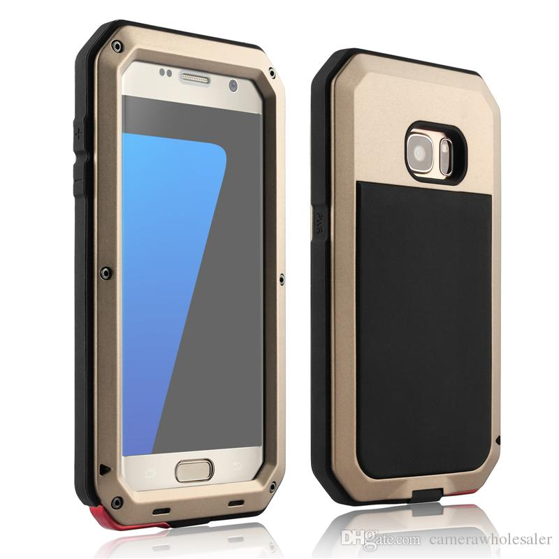 Shockproof Waterproof Power Aluminum Gorilla Glass Protect Phone Cover for Samsung Galaxy S3 S4 S5 S6 S7 Edge Note 4 5