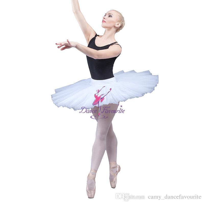 Top Selling Adult Girls Professional Classical Ballet Dance Tutu Skirt White Half Tutu for Women Ballerina Dance Costume BLL001