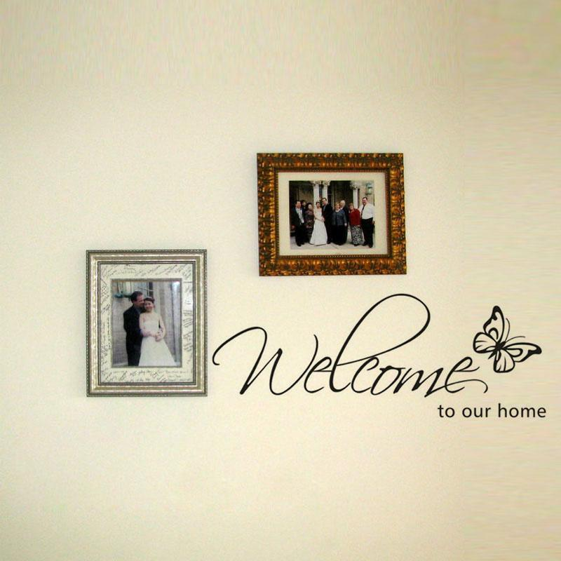 welcome home wall sticker diy welcome to our home wall decals home