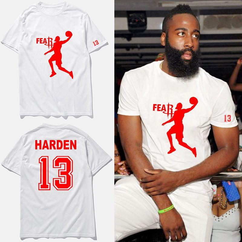 best website ed190 c6520 James harden basketball jersey t shirt 2017 new Original designer fashion  t-shirt harden #13 white cotton tops tees,tx2424