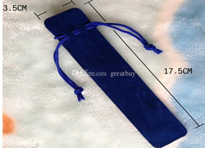 factory sale penbags universal pen case with rope velvet pouch for the pen can print logo