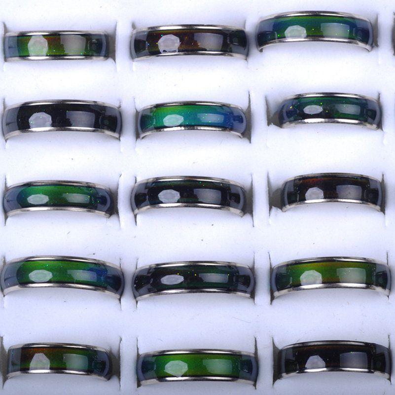 ムードリングムードリングはあなたの血のミックスサイズ100ピースの温度に色を変える