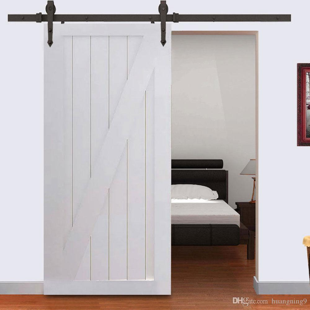 Marvelous New Modern Steel Wood Sliding Barn Door Track Hardware Kit Set 6FT Black Door  Track Online With $52.45/Piece On Huangning9u0027s Store | DHgate.com
