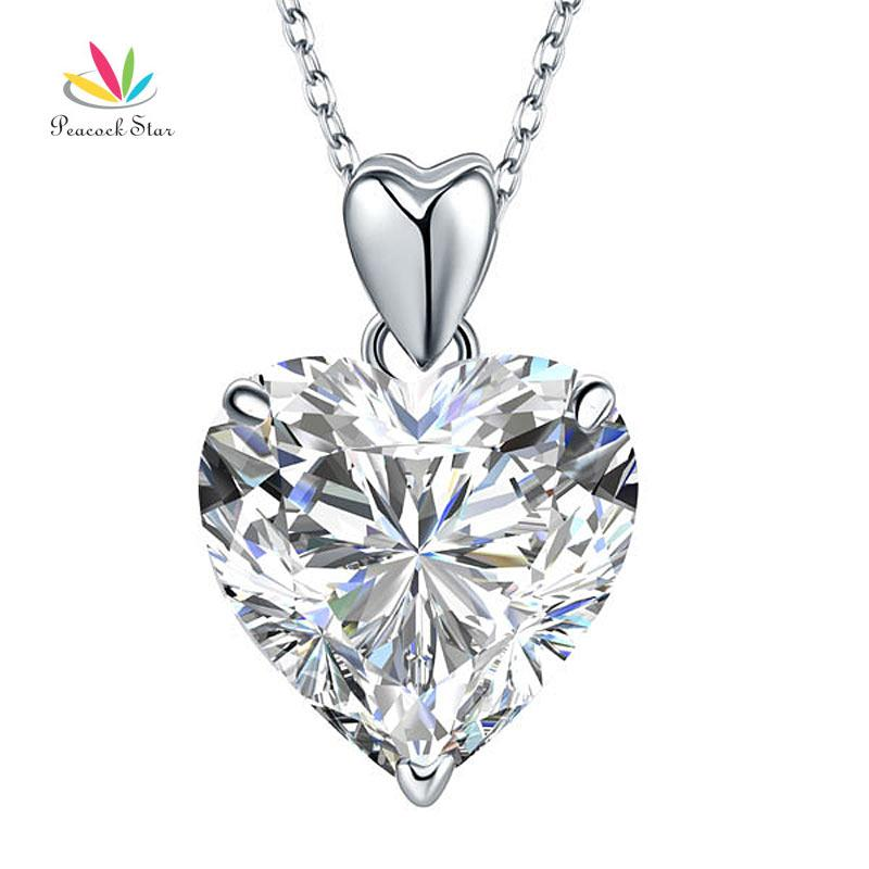 Wholesale peacock star 5 ct heart created diamond pendant necklace wholesale peacock star 5 ct heart created diamond pendant necklace solid 925 sterling silver fashion wedding jewelry cfn8043 ruby pendant necklace star aloadofball Gallery