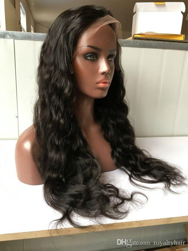 Natural Wave Peruvian lace front Human Hair Wigs wavy full lace human hair Wigs With Baby Hair For Black Women