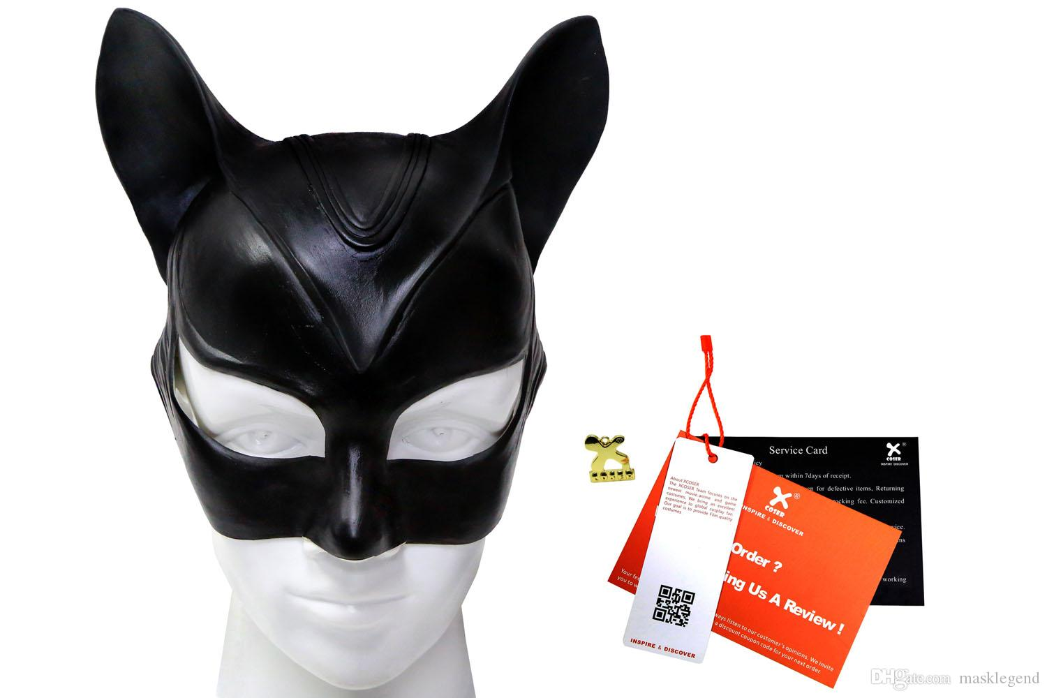 2018 catwoman mask batman the dark knight rises latex teens full head mask deluxe cosplay costume accessory xcoser from masklegend 2713 dhgatecom