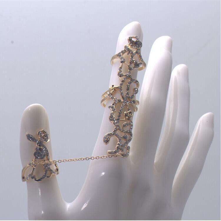 Розовый Бриллиант Бриллиантовое Кольцо Соединились Индивидуальность Ювелирные Изделия Регулируемые Кольца Полые Тела