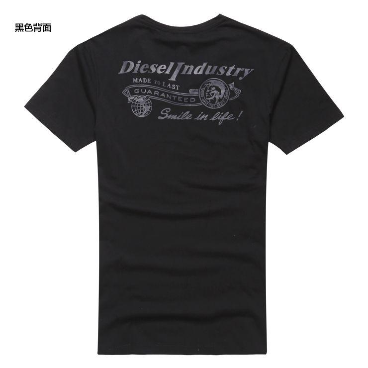 Brand Men T Shirt cotton 2017 new summer black Mens V neck Short-Sleeved Top Tees slim fit back printing Mens Casual Undershirt