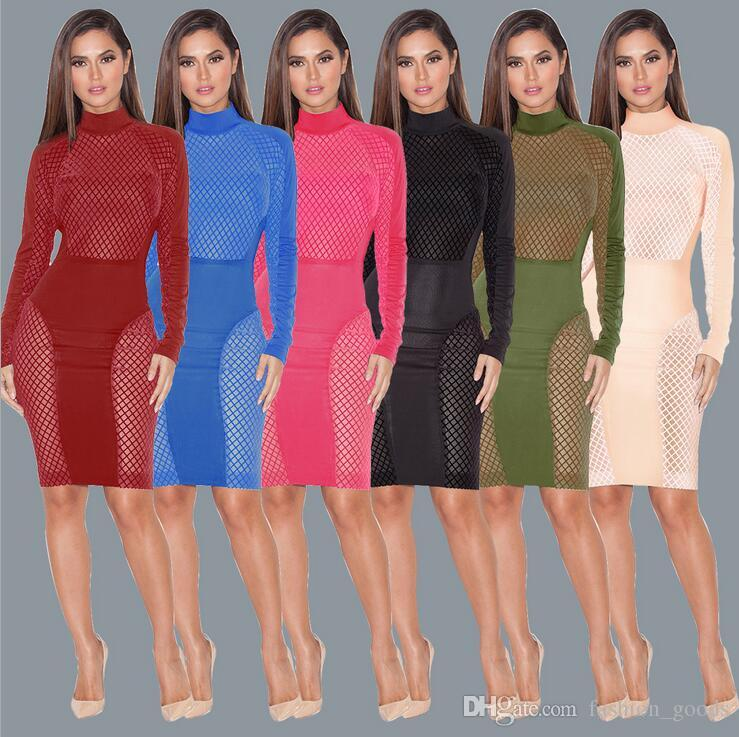 Explosion-style multi-color hollow sexy sexy dress band dress skirt fashion evening skirt NLX002