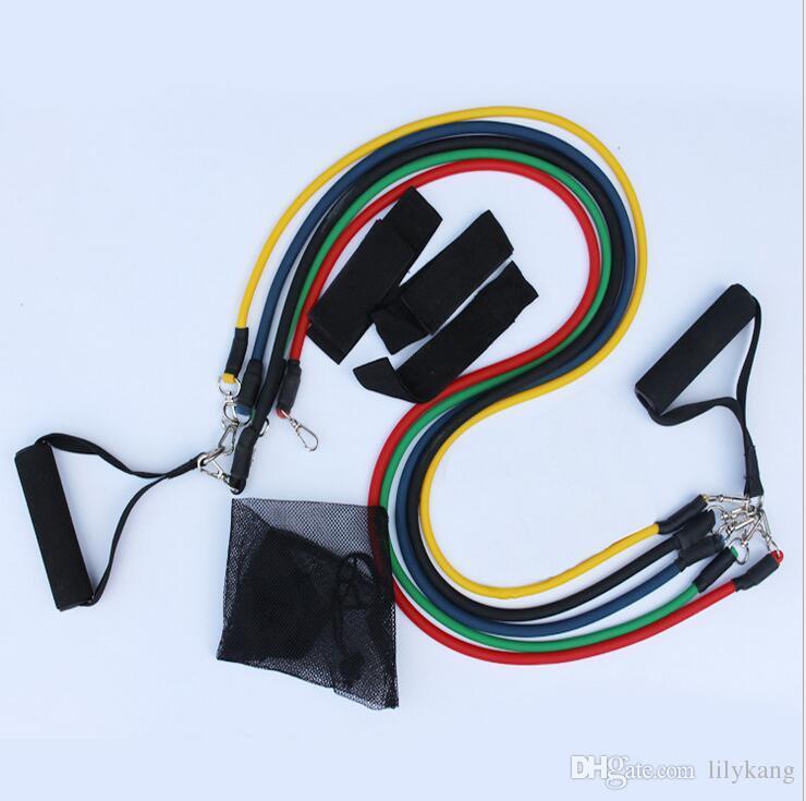요가 피트니스 저항 밴드 운동 튜브 실용 탄성 교육 로프 요가 풀 로프 필라테스 운동 Cordages