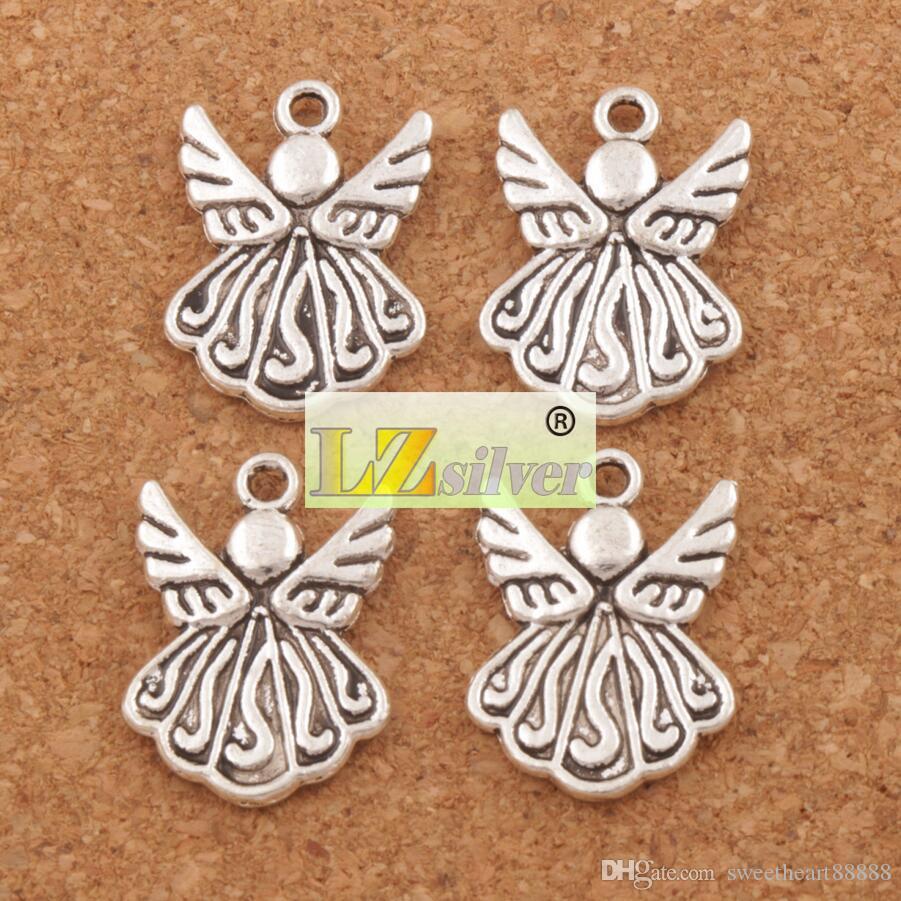 Летящий ангел крыло подвески подвески /много 21.5х15.4мм Античное серебро ювелирные изделия DIY ювелирных изделий компоненты L216
