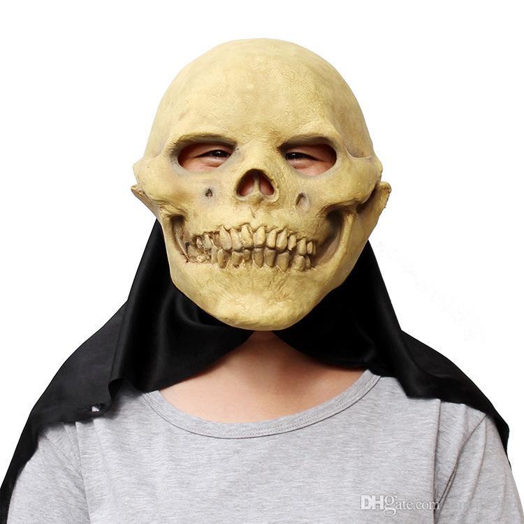 Super Horror Devil Skull Latex Masks Halloween Cosplay Porps Scary Ghost Rubber Full Face Party Mask Fancy dress costume
