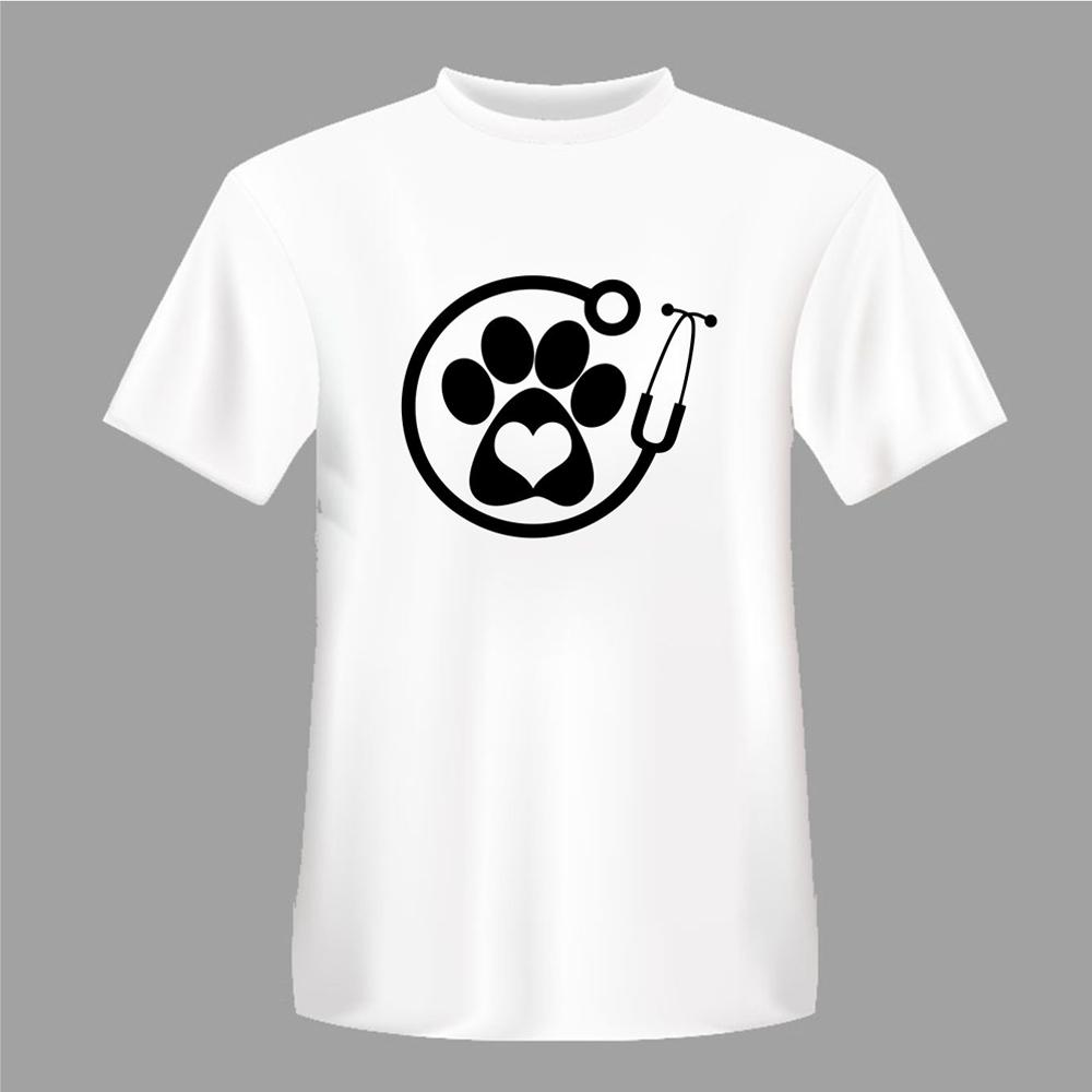 Heart design t shirt - Summer Vet Veterinarian Dogs Cats Footprints Heart Design T Shirt Men S High Quality Tees Shirt T Shirt Tee From Yt120116 15 07 Dhgate Com