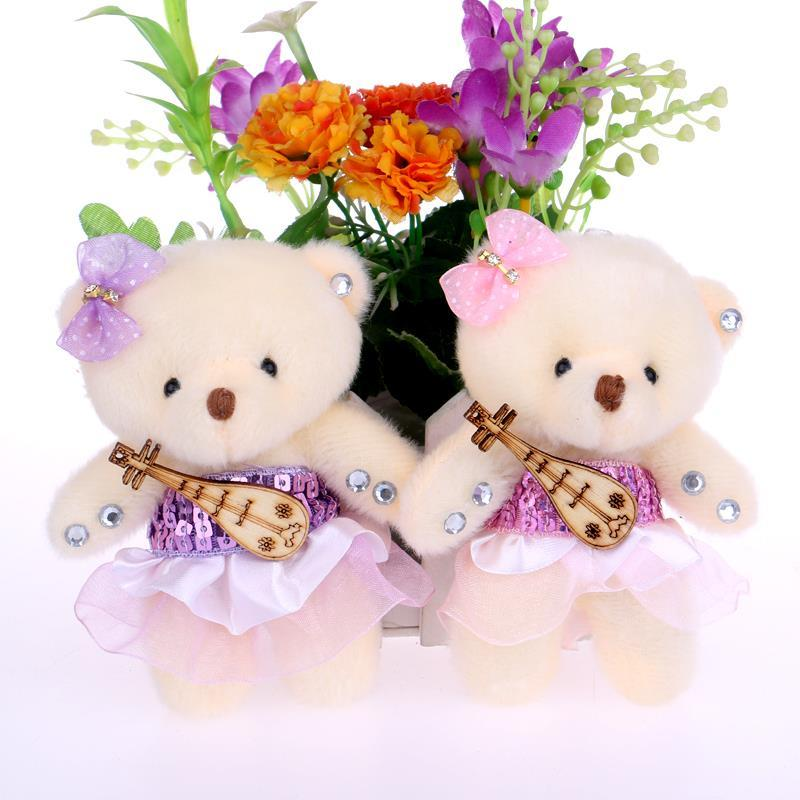 Wholesale- NEW Cute Cotton Teddy Bear Plush Toys Flower Bouquets ...