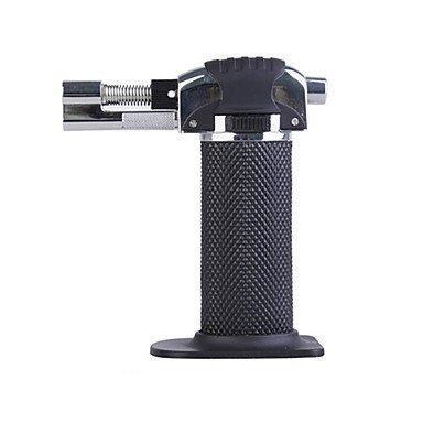 Pistola de encendedor de soldadura Encendedor de butano 1300C Metal recargable Butano a prueba de viento Llamas de chorro Cocina Brulee Encendedores micro de la antorcha culinaria