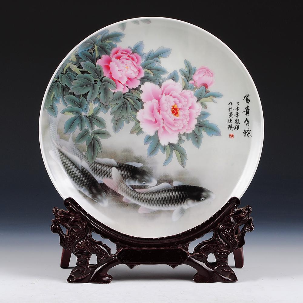 2017 vintage home decor ceramic ornamental plate chinese
