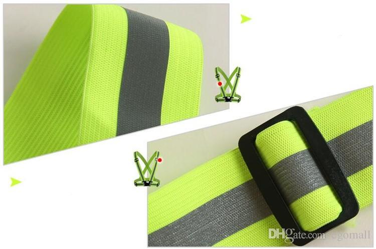 Wholesale Safety Clothing Reflective 3M Fabric Material Strip Tap Band Vest Jacket Sports Outdoor Gear RS-01Thickened