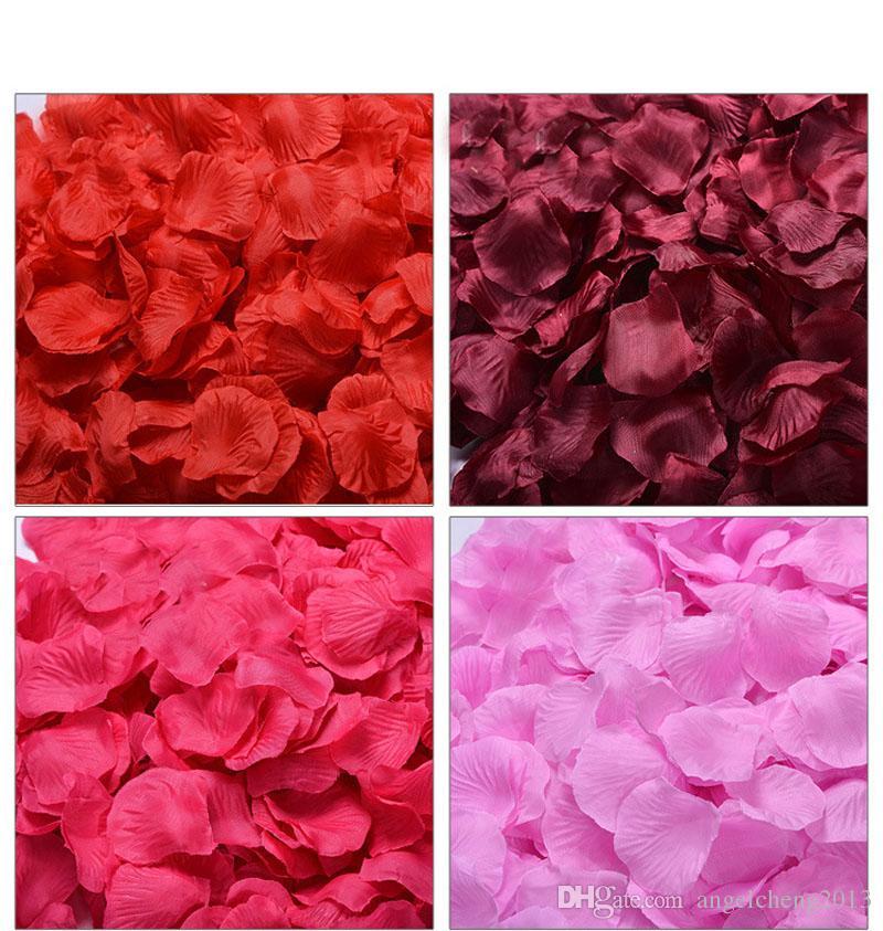 seda rosa pétalas flor artificial festa de casamento vaso decor nupcial chuveiro favorpieces confetti cor sortida