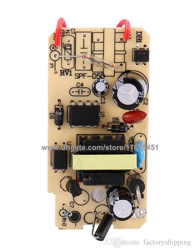 DHL Libero AC DC 12V 1A Adattatore di alimentazione Adattatore 1000mA 5.5mm x 2.1mm con programma IC di alta qualità