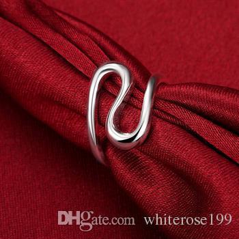 Hurtownie - detaliczna najniższa cena prezent na Boże Narodzenie, Darmowa wysyłka, nowy pierścień mody 925 R113