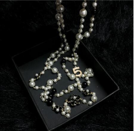 2a0b75aac0f4 Compre Collar Largo CC Para Mujer Joyería Collares Maxi CC Collier Femme A   8.05 Del Toplogo